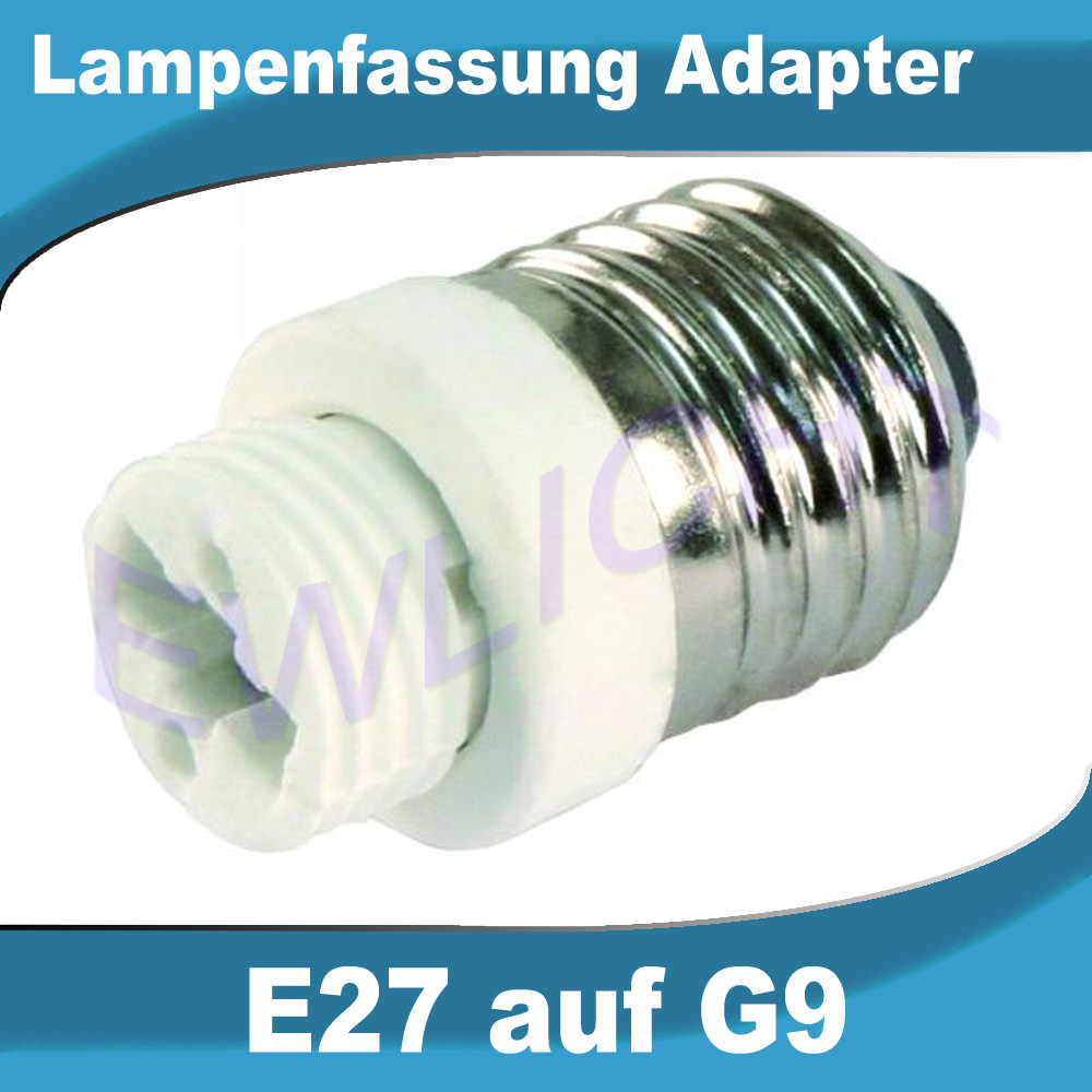 lampensockel e14 e27 auf gu10 g9 leuchtmittel adapter konverter gl hbirne led ebay. Black Bedroom Furniture Sets. Home Design Ideas